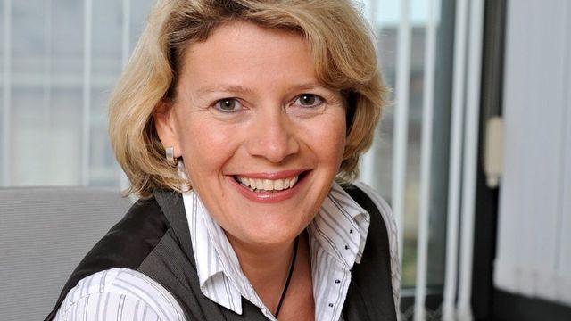 Ariane Dayer (ici en 2008) est l'actuelle rédactrice en chef du Matin Dimanche. [Dominic Favre - Keystone]