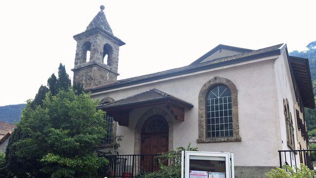 La chapelle de Saxon. [Marie Giovanola - RTS]