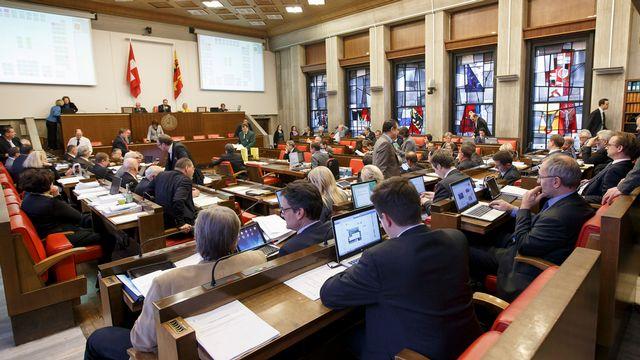 Le Grand Conseil genevois, où le nombre de femmes a fortement diminué depuis 2005. [Salvatore Di Nolfi - KEYSTONE]