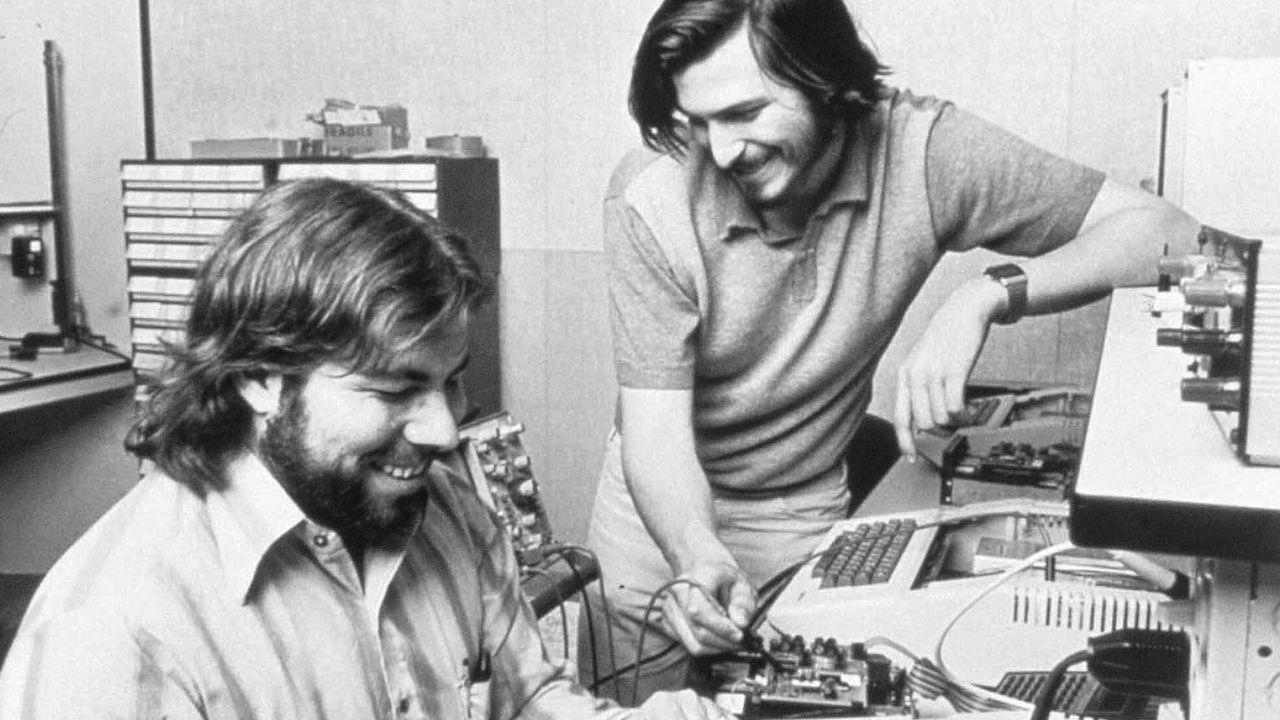 Steve Wozniak et Steve Jobs, deux hippies qui deviendront milliardaires. Apple/DPA AFP [Apple/DPA - AFP]