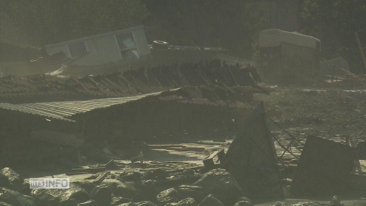 Un nouvel éboulement déferle sur le village de Bondo dans les Grisons [RTS]