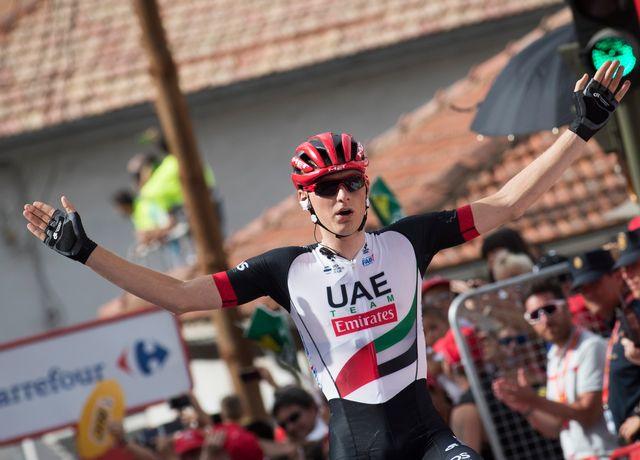 Le champion du monde M23 de 2013 a signé l'une de ses plus belles victoires, la première dans un grand Tour. [Jaime Reina - AFP]
