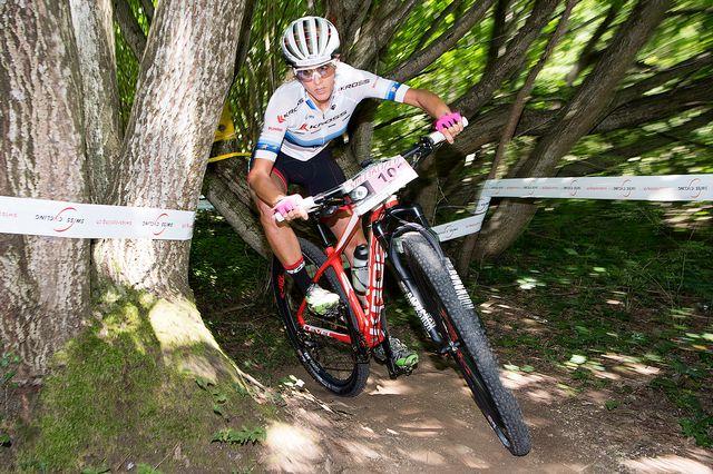 Jolanda Neff a triomphé en Italie en cross-country. [Anthony Anex - Keystone]