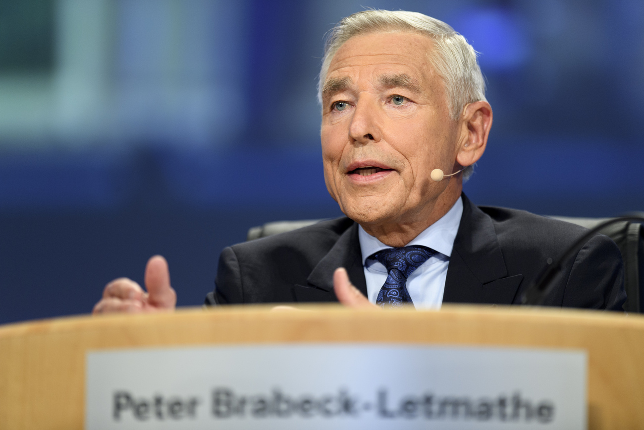Peter Brabeck, l'ancien patron de la multinationale Nestlé.
