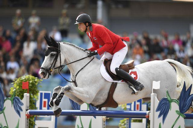 Martin Fuchs n'a pas pu se qualifier pour la finale du saut individuel aux Championnats d'Europe. [Pontus Lundhal - Keystone]