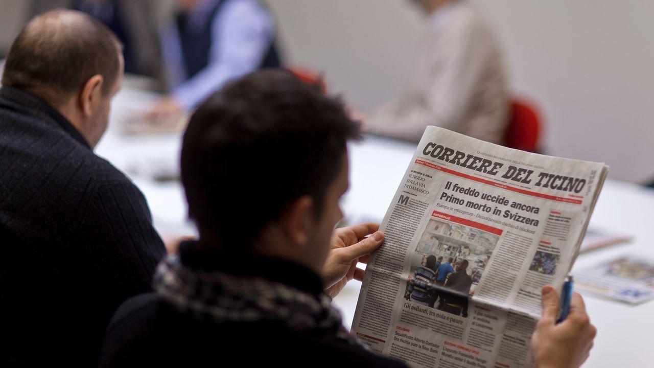 La presse tessinoise se porte bien, notamment grâce à l'identité cantonale. [Gaëtan Bailly - Keystone]