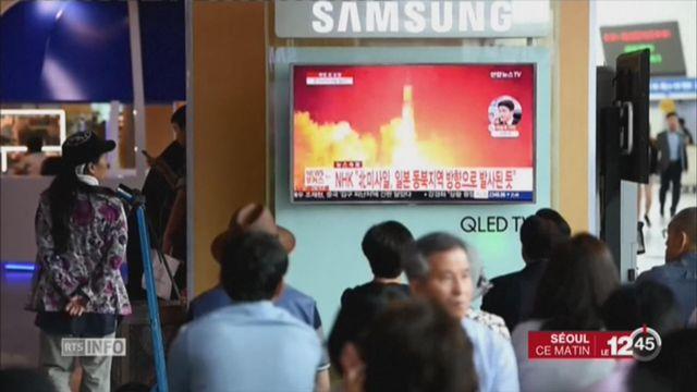Pyongyang a tiré un missile au-dessus du Japon [RTS]