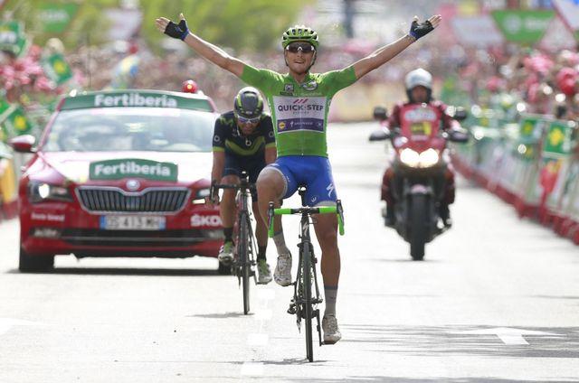 Matteo Trentin a signé son deuxième succès depuis le départ de la Vuelta. [Javier Lizon - Keystone]