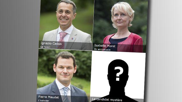 Galerie des candidats PLR au Conseil fédéral. [RTS - Keystone]