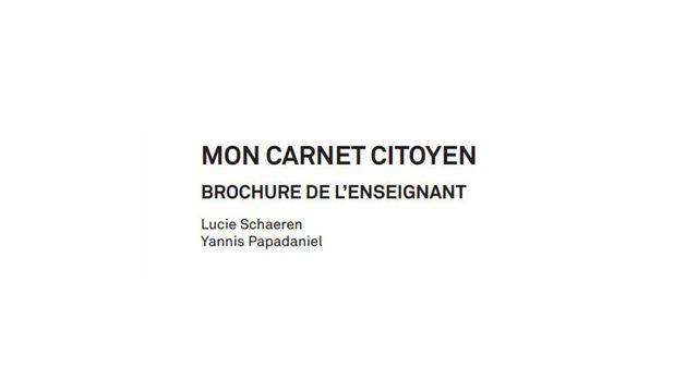 Mon carnet citoyen, Editions Loisirs et Pédagogie [Editions Loisirs et Pédagogie - editionslep.ch]