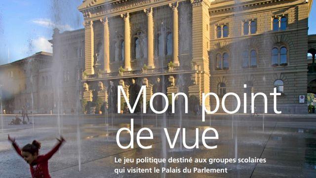 Mon point de vue, un jeu politique destiné aux groupes scolaires qui visitent le Palais fédéral. [juniorparl.ch - admin.ch]