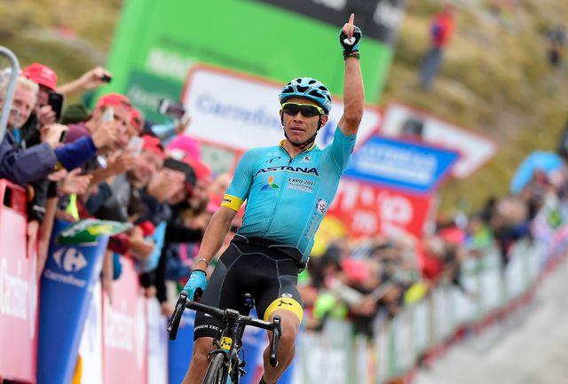Miguel Angel Lopez n'avait encore jamais triomphé sur un grand Tour. [Jose Jordan - AFP]