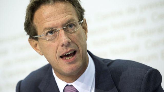 Le conseiller national PLR genevois Christian Lüscher. [Marcel Bieri - Keystone]