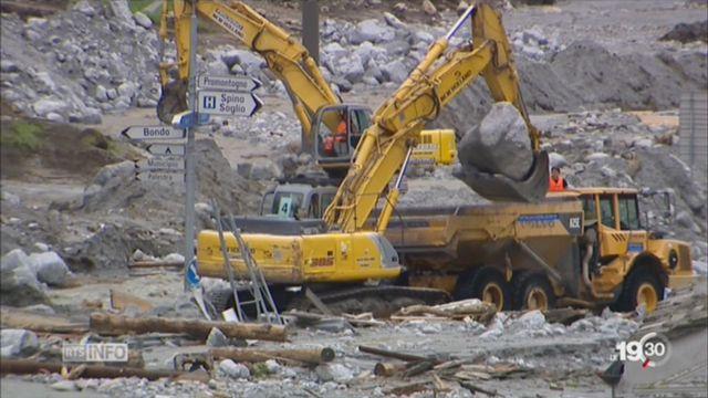 Bondo: une nouvelle coulée de boue a touché le val Bregaglia [RTS]