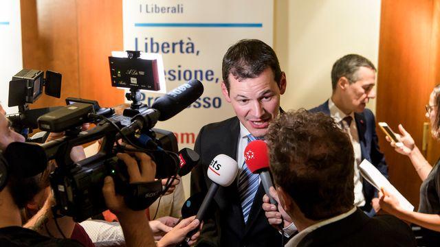 """La presse alémanique salue une """"une victoire d'étape éclatante"""" pour Pierre Maudet. [Jean-Christophe Bott - Keystone]"""