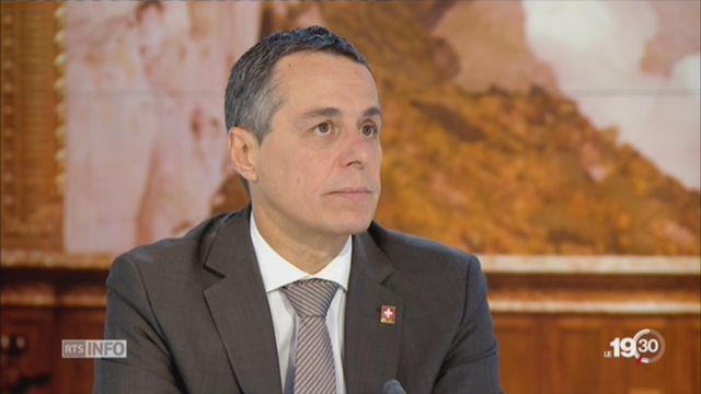 Entretien avec Ignazio Cassis, candidat à la succession de Didier Burkhalter [RTS]
