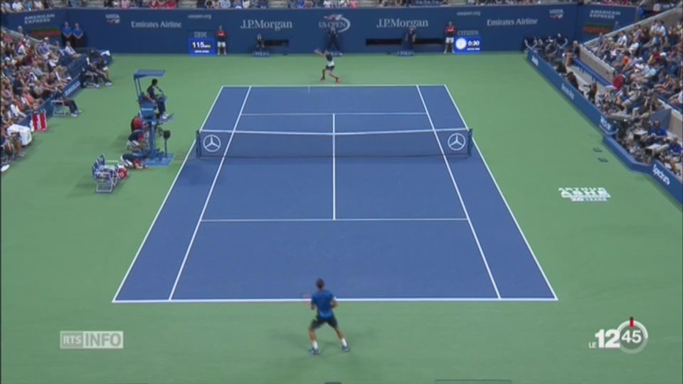 Tennis - US Open: Federer se qualifie pour les quarts de finale [RTS]