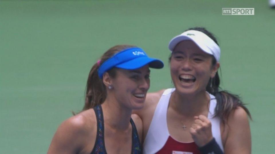 Double dames, finale: Hradecka (CZE)-Siniakova (CZE) battu par Chan (TPE)-Hingis (SUI) 3-6 2-6 [RTS]
