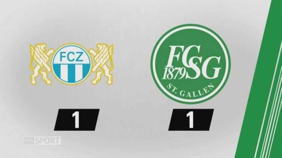 7e journée, Zurich - St-Gall, 1-1 (1-0): tous les buts de la rencontre [RTS]