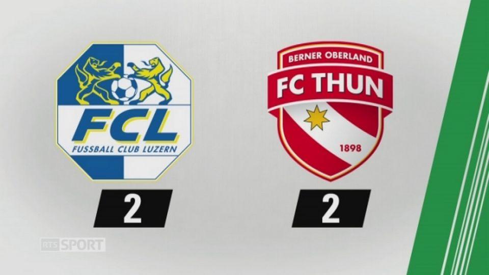 7e journée, Lucerne - Thoune, 2-2 (0-1): tous les buts de la rencontre [RTS]