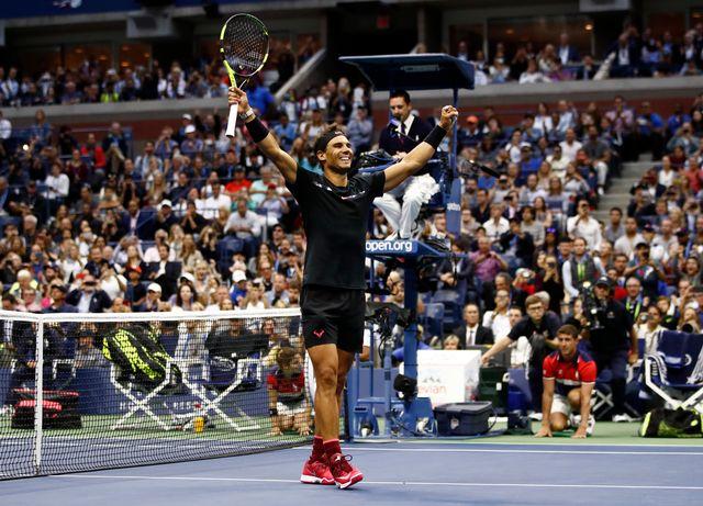 Nadal a encore une fois fait parler sa puissance. [Julio Cortez - Keystone]