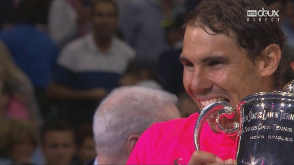 Messieurs, finale: Nadal (ESP) soulève son 16e titre du Grand-Chelem [RTS]