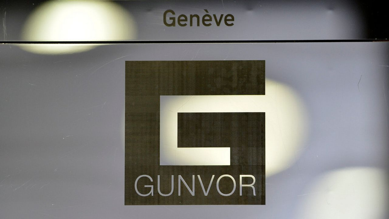 Le logo de la société Gunvor photographié à Genève. [Martial Trezzini - Keystone]