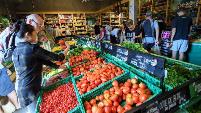 Officiellement lancée par le Conseil fédéral, la campagne sur la sécurité alimentaire ne devrait pas faire de remous. [Martial Trezzini - Keystone]