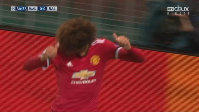 Ligue des Champions, Gr. A, Manchester United - Bâle (1-0): Fellaini ouvre le score de la tête [RTS]