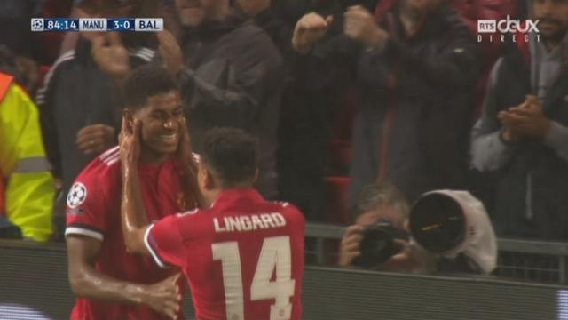 Ligue des Champions, Gr. A, Manchester United - Bâle (3-0): Rashford fusille Vaclik à bout portant [RTS]