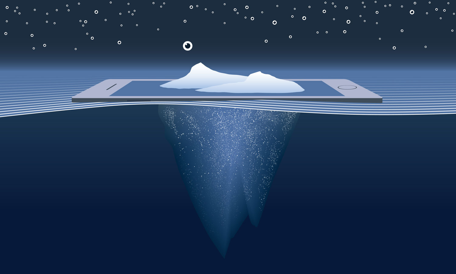 Le Big data, ou la partie invisible de l'iceberg.