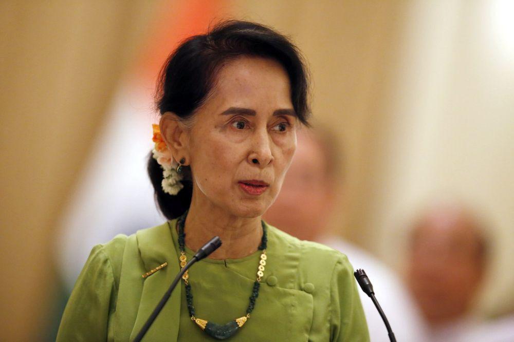La dirigeante birmane Aung San Suu Kyi.