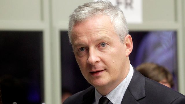 Le ministre français de l'Economie Bruno Le Maire, ce vendredi 15 septembre à Tallinn. [Valda Kalnina - EPA - Keystone]
