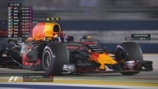 GP de Singapour, Q3: Sebastian Vettel (GER) en pole position, devant Max Verstappen (NED) et Daniel Ricciardo (AUS) [RTS]