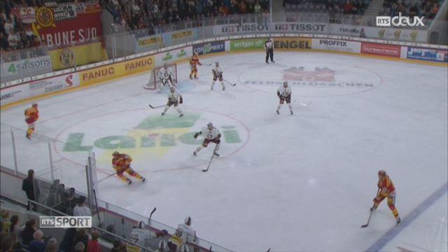 Hockey-National League, 5e journée: Bienne – Genève (5-4) + itw de Makai Holderner, attaquant de Genève et Jason Fuchs, attaquant de Bienne [RTS]