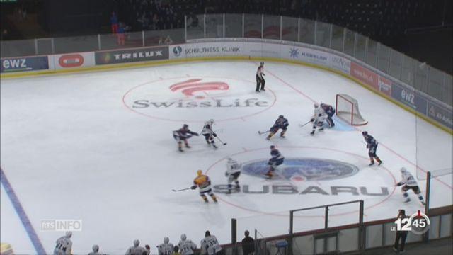 Hockey: Fribourg s'impose face à Zurich (2-1) et prend la tête du championnat [RTS]