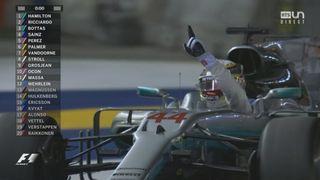 GP de Singapour, course: Hamilton (GBR) s'impose devant Ricciardo (AUS) 2e et Bottas (FIN) 3e [RTS]