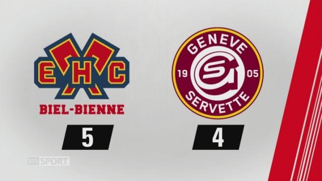 5e journée, Bienne - GE Servette, (5-4): tous les buts de la rencontre [RTS]