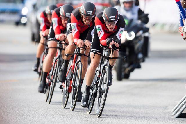 L'équipe BMC n'est pas parvenue à monter sur la première marche du podium. [Jon Olav Nesvold - EQ]