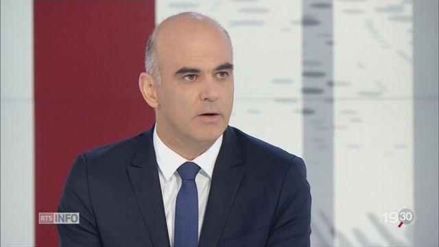 Votations et élections fédérales: interview d'Alain Berset [RTS]