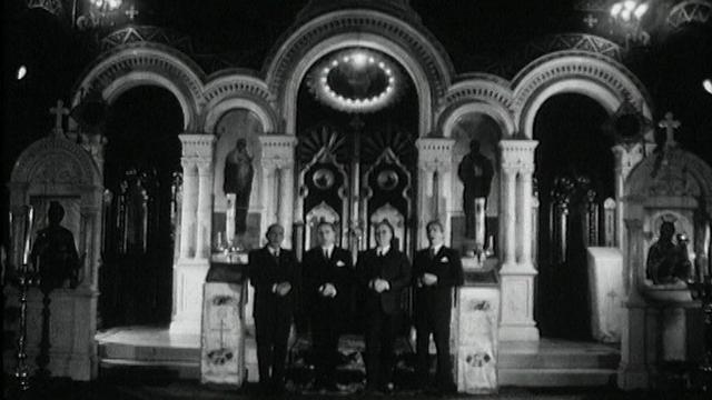 Le Quatuor Kedroff se produit à l'église orthodoxe russe de Genève en 1964. [RTS]