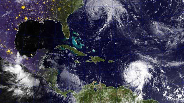 L'ouragan Jose (au sommet de l'image) et Maria. [EPA/Keystone]