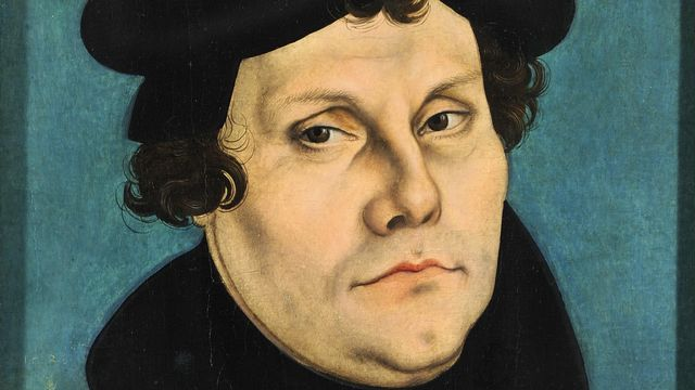 Martin Luther en 1528 par Lucas Cranach l'Ancien. [Domaine public]