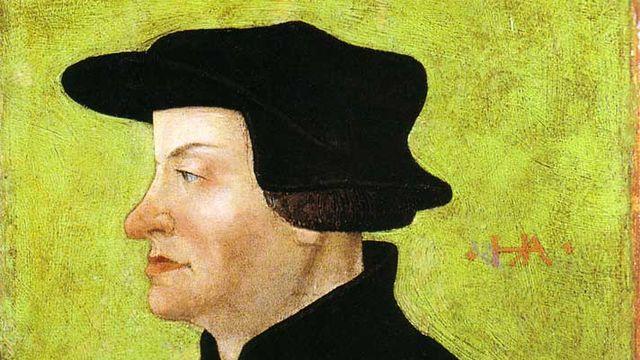 Portrait d'Ulrich Zwingli réalisé par l'artiste Hans Asper en 1531. [Hans Asper - Winterthur Kunstmuseum]