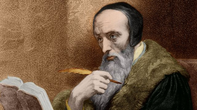 Portrait de Jean Calvin (1509-1564). [Isadora/Leemage - AFP]