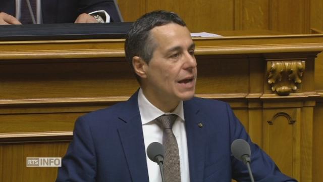 Ignazio Cassis accepte son élection devant 'Assemblee fédérale [RTS]