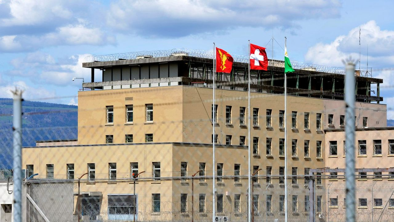 La prison de Bochuz, à Orbe, dans le canton de Vaud. [Keystone]