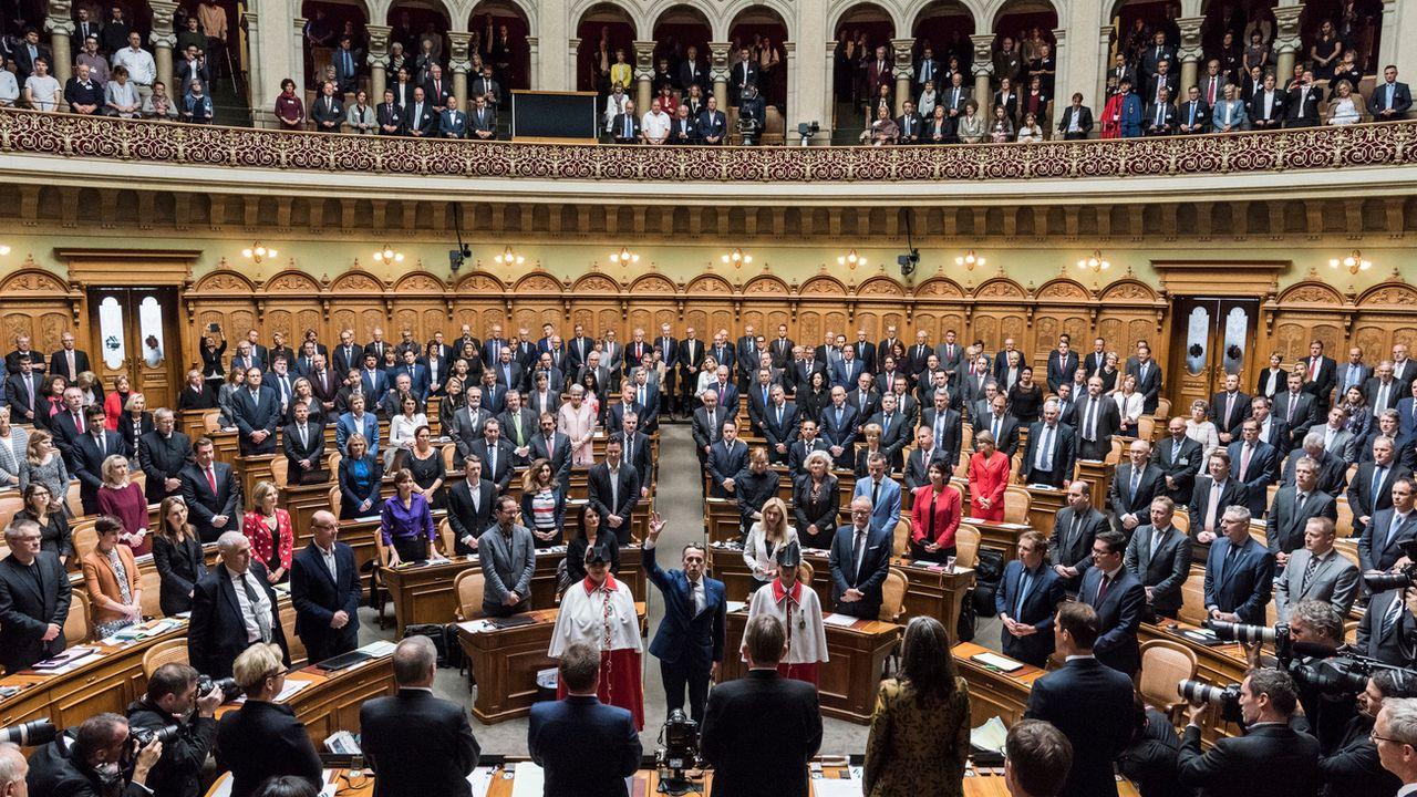 Les parlementaires ont choisi Ignazio Cassis comme prochain conseiller fédéral. [Peter Schneider - Keystone]