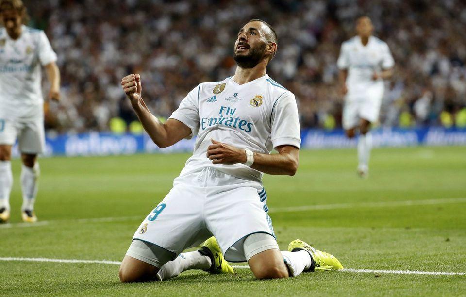 Benzema est le 8e meilleur buteur de l'histoire du Real avec 181 buts. [Chema Moya - Keystone]