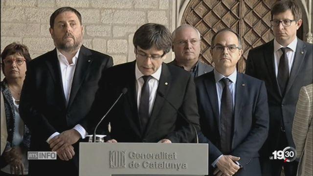 Référendum en Catalogne: la foule resserre les rangs [RTS]